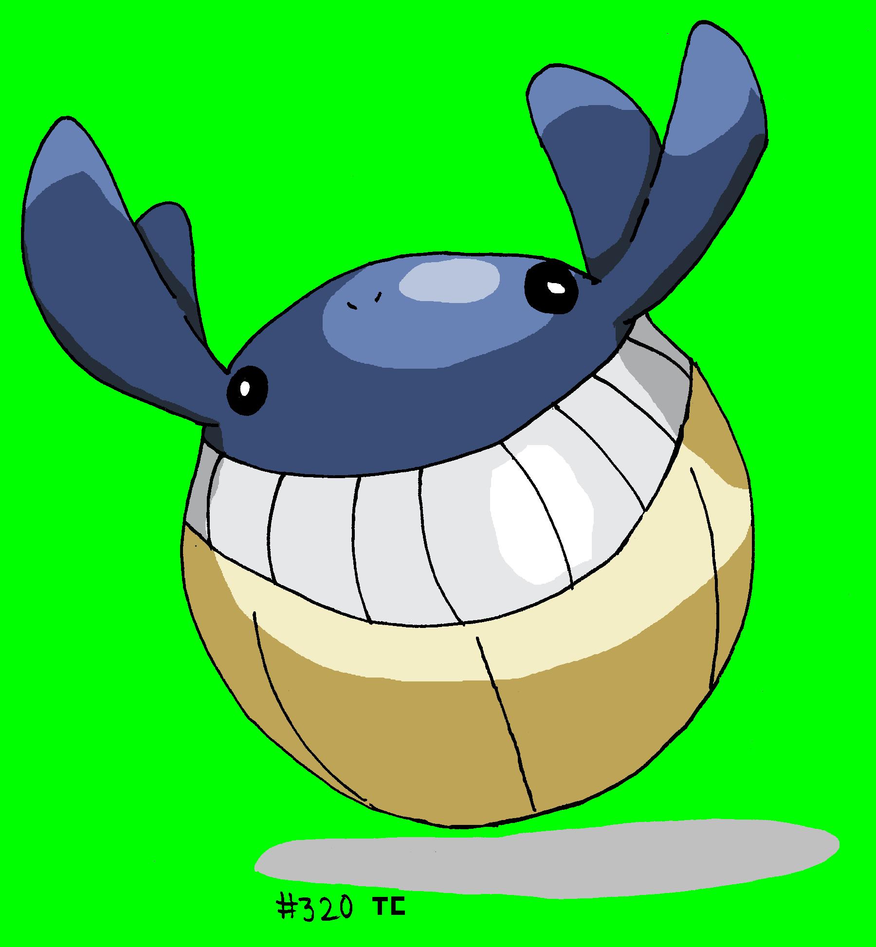 Pok mon de la semaine n 81 et vos dessins de wailmer - Pokemon baleine ...