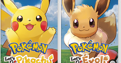 Pokémon Switch : Let's Go Pikachu et Let's Go Evoli