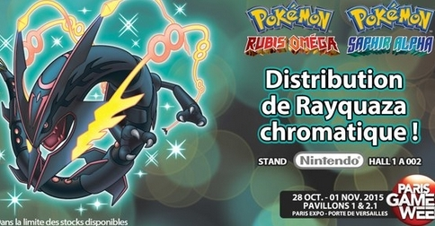 Rayquaza Chromatique à la Paris Games Week !