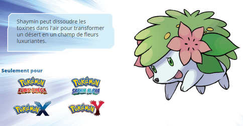 Distribution de Shaymin !