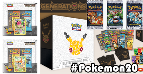 TCG : Elite Trainer Box, XY Evolutions, Cente Online, Duopack Génétions !