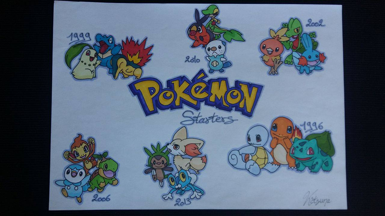 Galerie starters 1ere a 6eme g n ration par - Pokemon 6eme generation ...